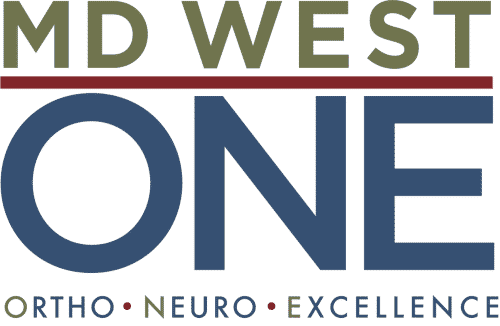 MD West ONE logo with tagline