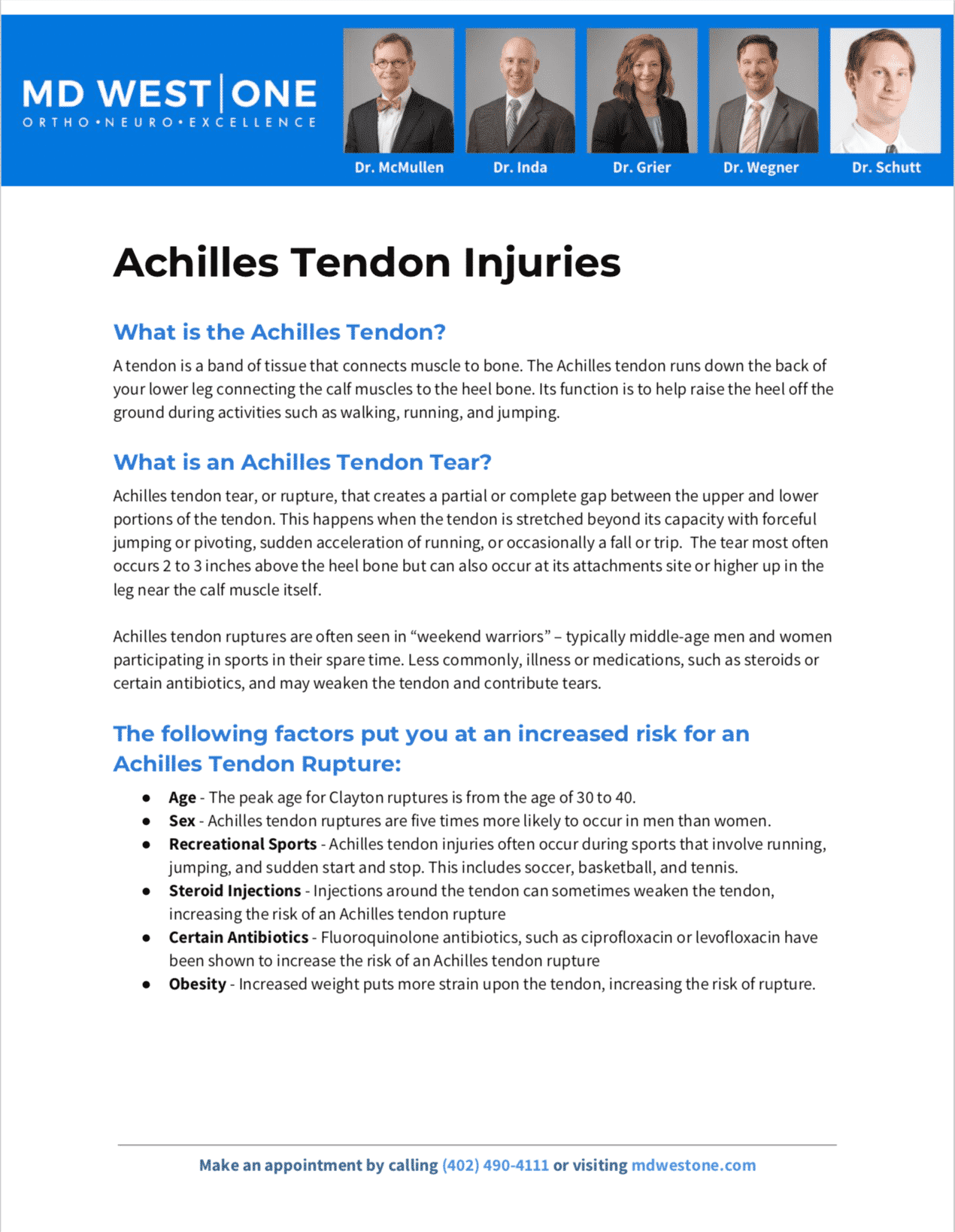 achilles tendon pdf