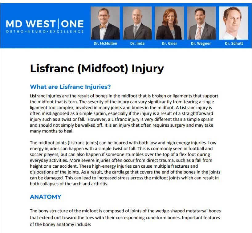 Lisfranc Injury PDF Screenshot